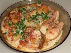Reteta culinara Tocanita cu stiuca si usturoi din categoria Peste. Specific Romania. Cum sa faci Tocanita cu stiuca si usturoi