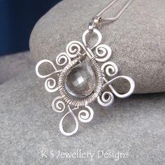 K S Jewellery Designs: New wire jewelry tutorial - Sprial Loop Frames