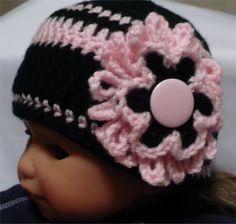 Loads of inspiration on this site!! Crochet Baby Beanie Hats Children Kids Crochet Items The Edgeof17 Botique.htm
