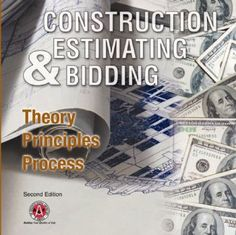 This 2nd edition comprehensive text covers the entire estimating process, from an introduction to the art to post bid follow up. Well-written, logically sequenced, and easy to understand, it has become the benchmark by which other such texts are judged. http://www.quantity-takeoff.com/Construction-Estimating-and-Bidding-Theory-Principles-Process-2nd-Edition.htm