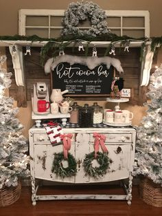 shop: Hot cocoa bar sign, Christmas sign, winter sign, valentine sign, gift Excited to share this item from my Christmas Fireplace, Farmhouse Christmas Decor, Rustic Christmas, White Christmas, Holiday Decor, Christmas Staircase, Christmas Kitchen Decorations, Simple Christmas, Minimalist Christmas