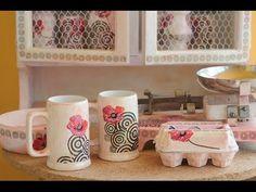 Decoupage sobre vidrio y ceramica - Barniz Vitrificable para Horno Casero - YouTube