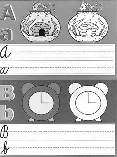 Učíme se psát - Omalovánky pro děti Alphabet Writing, Abs, Lettering, Autism, Silver, Logo, Weaving, Crunches, Logos