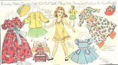 GROUP OF UNCUT LUCY ELEANOR LEARY NEWSPAPER PAPER DOLLS 1947 | eBay