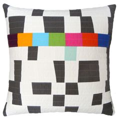 Modern quilted pillow - Barbara Perrino