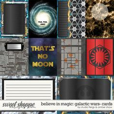 Believe in Magic: Galactic Wars Cards by Amber Shaw & Studio Flergs