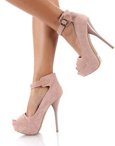 BLUSH TSTRAP ANKLE HEELS macysfallstyle Fall Style ankle heels |2013 Fashion High Heels|