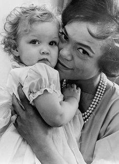 Eartha Kitt with her daughter ~ 1963