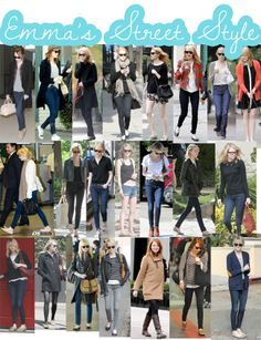 Emma Stone, she has got my kind of style. :)