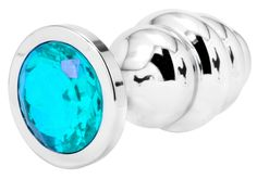 Handsome+Cock+Large+Turquoise+Jewelled+Ribbed+Butt+Plug, £14.99