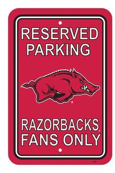 """BSI Products inc Arkansas Razorbacks 12"""""""" X 18"""""""" Plastic Parking Sign"""
