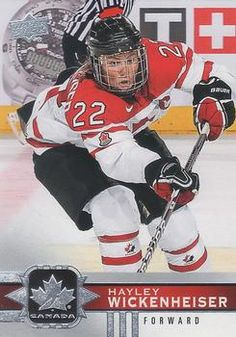 Womens hockey cards for sale at discount prices Women's Hockey, Hockey Cards, Baseball Cards, Hayley Wickenheiser, Sports, Hs Sports, Sport