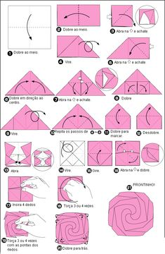 Easy Origami Rose Folding Instructions - How to make an Easy ...