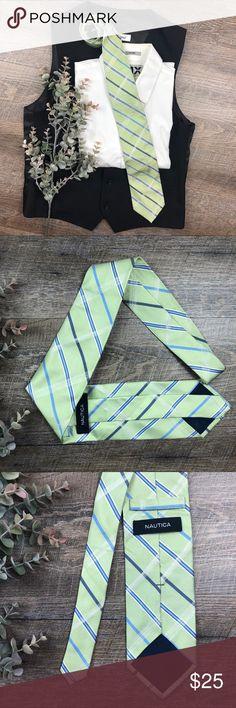 Nautica Green Striped Tie Great green and blue striped Nautica Tie! In excellent condition. (J-15) Nautica Accessories Ties