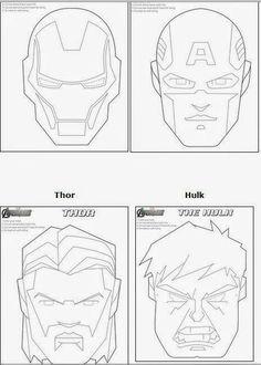 Oh My Fiesta! for Geeks: Avengers: Free Printable Coloring Masks. Birthday Party Snacks, Superhero Birthday Party, Boy Birthday, Batman Party, Birthday Ideas, Avenger Cake, Best Avenger, Avenger Party, Printables
