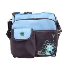 Flower & Heart Design Baby Diaper Shoulder Bag