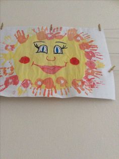 Sluníčko s otisky celé třídy