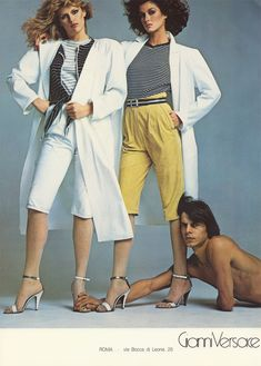Janice and Patti by Avedon 1980. for Gianni Versace