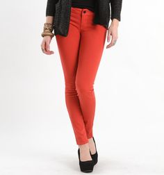 easy. Coral jeans