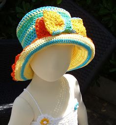 [ raybansunglasses.hk.to ] #ray #ban #ray_ban #sunglasses #chic #vintage #new Great to own a Ray-Ban sunglasses as summer gift.Crochet & Craft: MY HAT ON SOPHIE'S HEAD!