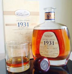 1931 St Lucia Distillers 1st edition rum review by the fat rum pirate