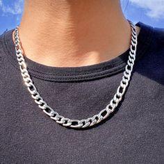 Stylish Jewelry, Fashion Jewelry, Jewelry For Men, Modern Jewelry, Men Necklace, Necklaces For Men, Mens Silver Chain Necklace, Silver Chains For Men, Mens Chains