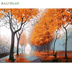picture paint on canvas diy digital oil painting by numbers drawing home decor craft