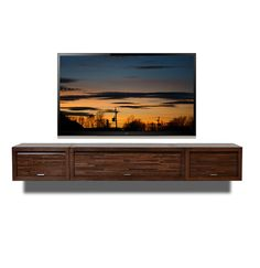 Need a floating media console like this beautiful piece for below the tv because I have heat baseboards on that wall.
