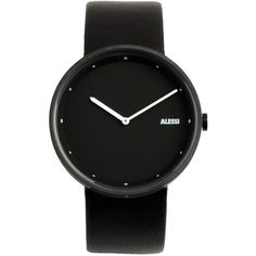 Alessi Wrist Watch (1.375 HRK) ❤ liked on Polyvore featuring jewelry, watches, accessories, fillers, black, black watches, alessi watches, black wrist watch, kohl jewelry and alessi