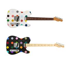 Damien Hirst Custom Dots Guitars. | if it's hip, it's here