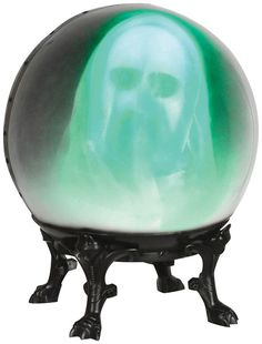 HALLOWEEN SPIRIT CRYSTAL BALL  GHOST ANIMATED PROP DECORATION HAUNTED HOUSE  #Halloween