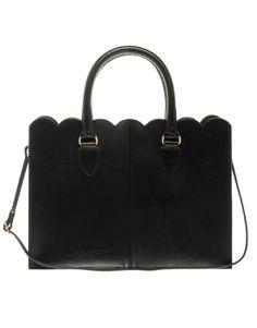 leather scallop edge shopper / asos