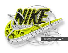 Nike - Futura logo by Marcelo Schultz, via Behance