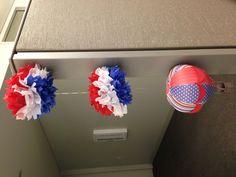 Patriotic themed hot air balloon