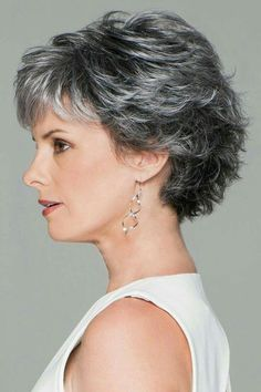 Short Wavy Pixie, Short Grey Hair, Short Pixie Haircuts, Short Hair With Layers, Curly Bob Hairstyles, Short Hair Cuts For Women, Trending Hairstyles, Curly Hair Styles, Pixie Cuts