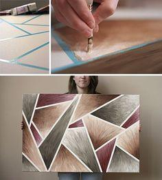 DIY canvas art by regina