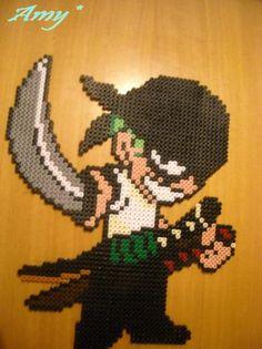 Roronoa Zoro One Piece hama perler beads by Amy