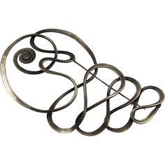 Art Smith modernist sterling silver brooch
