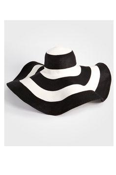 giant floppy striped hat