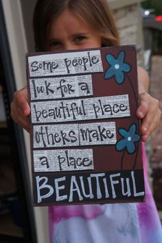 Some people look for a beautiful place handmade card
