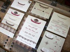 Custom Wedding Invitation Design by AnthologiePress on Etsy, $250.00