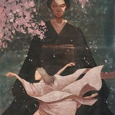 """Shoko Ishida (""""Yodaka""""),artista e ilustradora japonesa.Ha tomado de la cultura japonesa la nostalgia y el aire místico que contienen las leyendas e historias tradicionales de dicha cultura y ha hecho una re-invención de éstas a manera visual."""