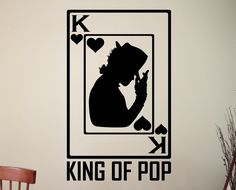 King of Pop Art Michael Jackson Vinyl Decal Sticker Home Interior Decorations American Dance Music Room Bedroom Wall Decor 3mcj