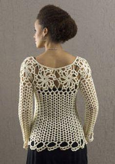 free lace top crochet pattern
