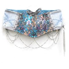 Wide art nouveau print corset hip belt money by LiziRose