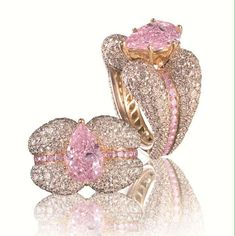 """""""Bubblegum pink diamonds are extremely rare, but spectacular. We love this pear-shaped diamond weighting 3.50 carats."""""""