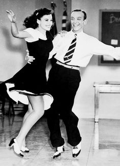 Fred Astaire and Paulette Goddard