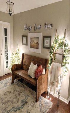 Home Interior, Interior Design, Foyer Decorating, Decorating With Shelves, Country Decor, Farmhouse Decor, Coastal Farmhouse, Farmhouse Furniture, French Farmhouse