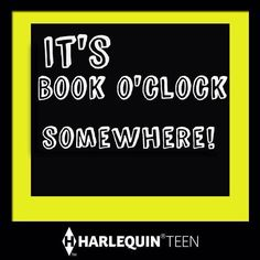 It's book o'clock somewhere