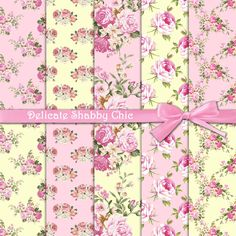 Roses digital paper : Delicate Shabby Chic *** THIS LISTING IS FOR A DIGITAL PRODUCT *** • • • NO PHYSICAL PRODUCT WILL BE SHIPPED • • • *PLEASE